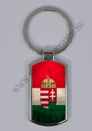 Magyar címer mintás kulcstartó