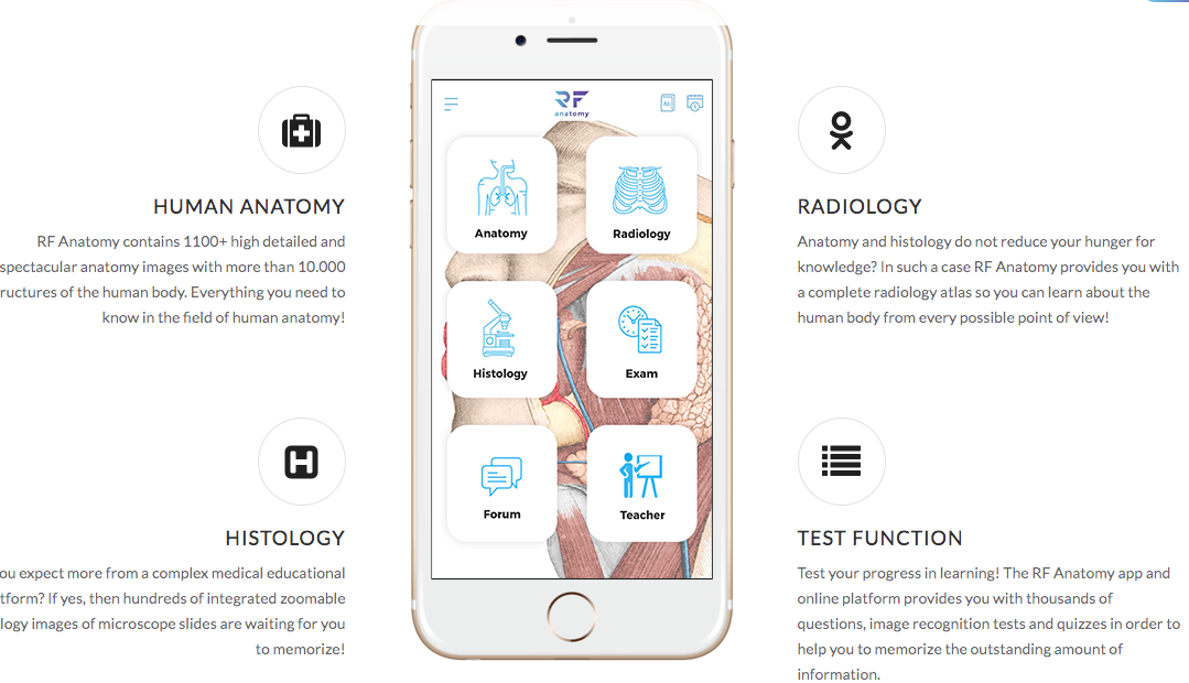 human anatomy app alkalmazás
